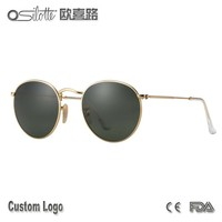 Timeless round lens metal sunglasses retro slim lightweight frame sun glasses sunglasses with your logo