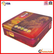square shaped mooncake packaging tin box