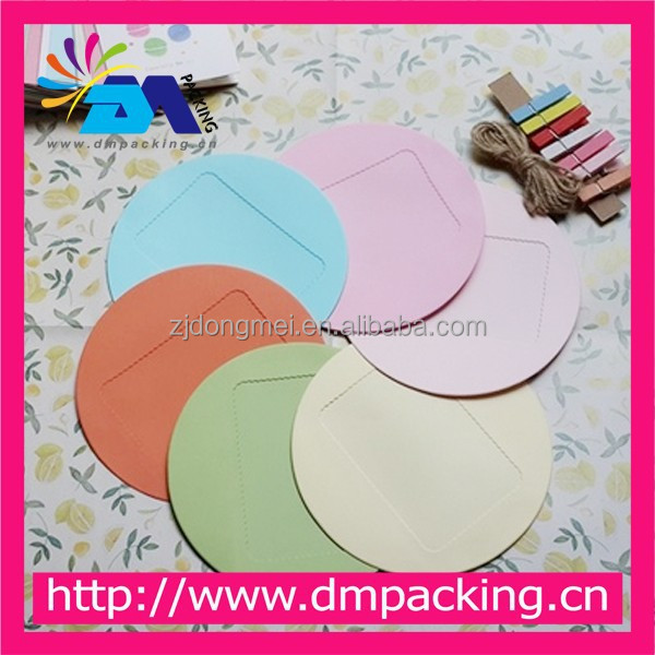 round offset paper folded photo display frame