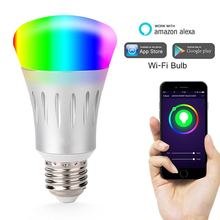 High quality RGB colorful intelligent smart light wifi <strong>bulb</strong> with app control