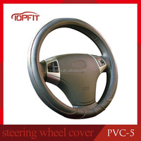 Factory Cheap Price High Quality PVC Top Fit Toyota Corolla Hilux Land Cruiser Black Anti Slip Car Steering Wheel Cover