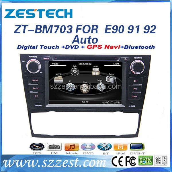 ZESTECH Factory OEM car dvd with GPS 2 din Car dvd for bmw e90 AUTO