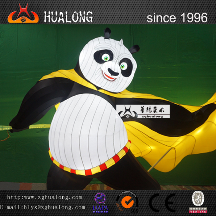 Kungfu Panda Outdoor Playground Cartoon Character Lantern