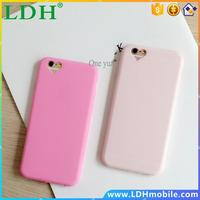 2016 Hot sale Case for Apple iPhone SE 5 5S 6S 6Plus Best Quality Cute candy Color Loving Heart for iPhone protective phone case