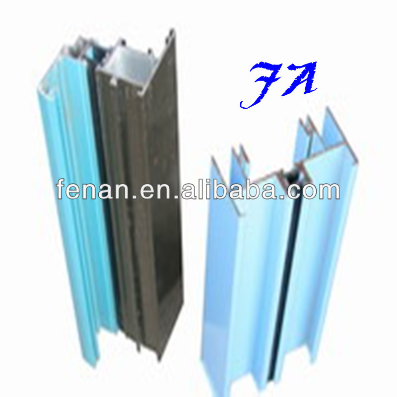 Aluminum Profile Thermal Break 6063 T5 with glass used for industrial or windows and doors, curtain wall, handrail, solar system