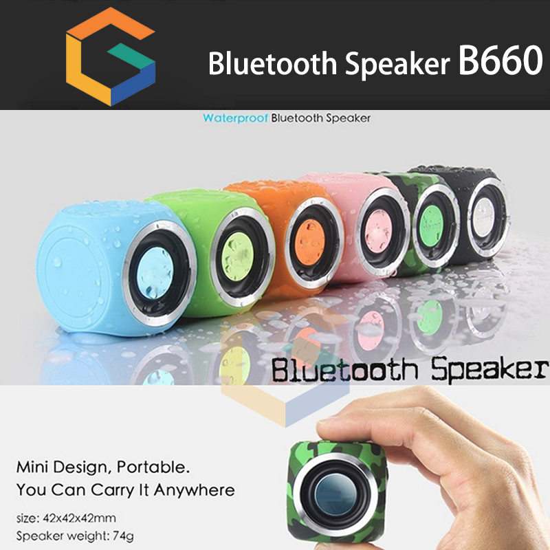 Hot new products 2016 Mini Bluetooth Speaker b660 Outdoor Wireless waterproof bluetooth speaker for mobile phone/computer