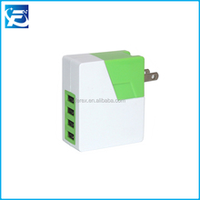 2017 5V 4.8A Mini 4 USB Port USB Wall Charger Mobile Accessories Phone Home Charger 4USB Travel Charger with US Plug