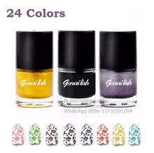 Nail Art Stamping Polish Drawing Newly Sweet Style Nail Polish Candy Colors Nail Stamp Varnish Plate and Template Use