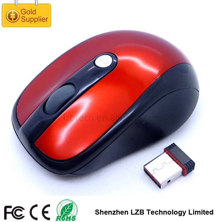 WM-04 Low MOQ OEM Brand and Pantone Color 2.4ghz Drivers USB 3D Wireless Optical Mouse Rohs Genius Mouse