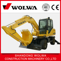 Wolwa new mini wheel hydraulic excavator in Dubai with high quality for export from factory