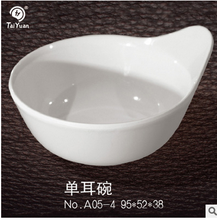 Special design white plastic melamine popcorn bowl with single handle