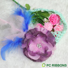 PC high quality baby headband with feather