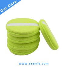 "5"" Sponges Car Motorcycles Washer Microfiber Wax Applicator Polishing Sponges pads"