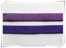 Customize polyester jacquard elastic band with dot silicon grip