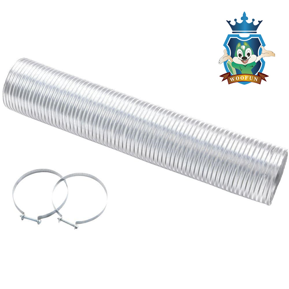 High Pressure Semi Rigid Flexible Ducting Aluminum Tube Flexible Air Conditioner Hose