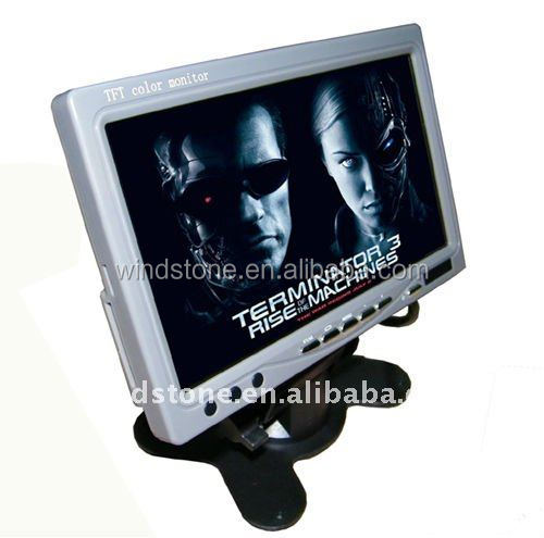 7 inch bluetooth monitor two video input with mp5