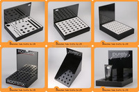 Counter top holder black color customized acrylic cosmetic display unit