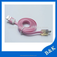 a complete range of specifications colorful led Alibaba face micro usb cable utmost in convenience