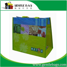 Customize one side durable laminated bag with zippp woven r opp woven n for good and food