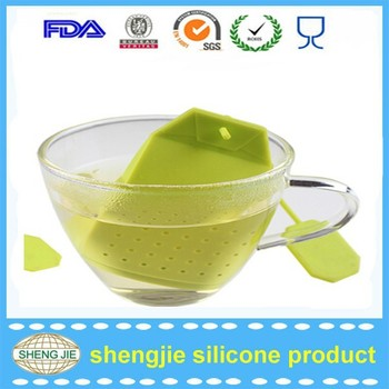 Silicone Colorful Tea Bag Shape Tea Infuser Loose Leaf Herbal Tea Filter Strainer For Mug Cup