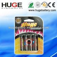 Long life and environmentally friendly with best price 1.5V AA UM3 R6 carbon zinc dry battery