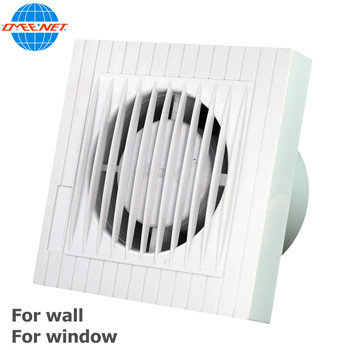 6 Inch ABS Plastic Material Kitchen Bathroom Window Wall Mounted Mini Electrical Exhaust Ventilation Fan For Fresh Air