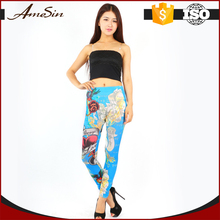 china wholesale high quality wholesale tights tattoo print seamless leggings