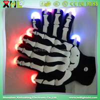 Fun Flashing Led Halloween Skull Gloves