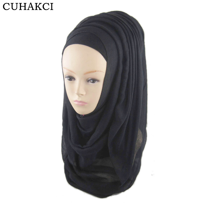 Muslim Islamic Female <strong>Mufflers</strong> Scarf Wraps Women Pure Color Plain Chiffon Scarves Shawls 180*60 <strong>cm</strong>
