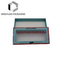 Custom Fancy Paper Cardboard Chocolate Gift Packaging Box With Pvc Window Lids For Promotion