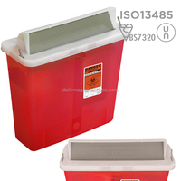 Puncture Resistant 4.6L Medical Sharp Containers For Hospital