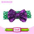 High quality baby large bow turban headband girls sequin bow headband