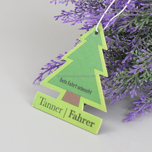 Make customized tree shape hanging Paper Car Air Fresheners, high quality Car Perfumes,funny paper air freshener for car