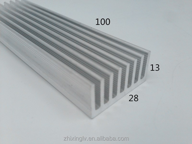 Aluminium heatsink flat <strong>aluminum</strong> profile custom flexible heat sink to led 28*13-100 <strong>aluminum</strong> heat sink shapes profiles