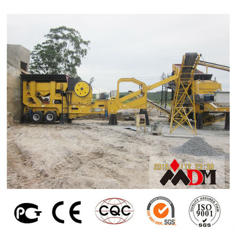 China Top 1 mobile rock crusher china manufacturer for sale certified by CE ISO GOST