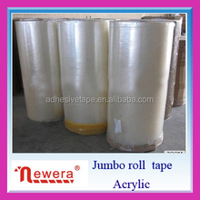 Jumbo Roll Opp Acrylic Material Adhesive Gum Tape for Factory Slitting