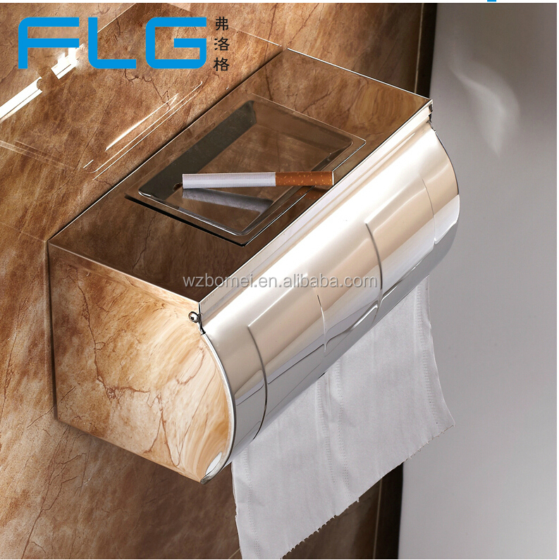 Bathroom sanitary ware small roll stainless steel paper towel holder free standing toilet paper holder