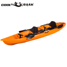 2 person fishing ocean kayak with footrest