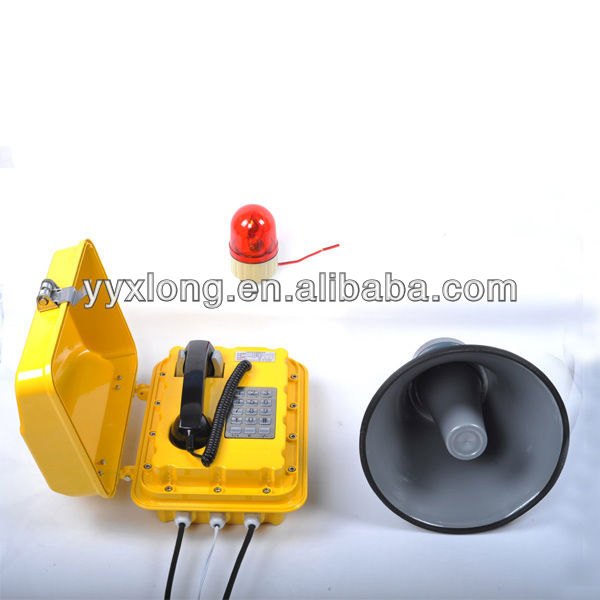 The aluminum alloy safety Industrial Corded telephone Telecommunication equipment
