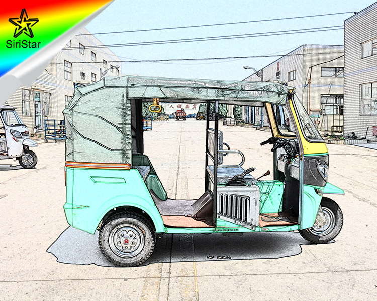 2017 India Style Electric Tricycle Tuk Tuk With Cover