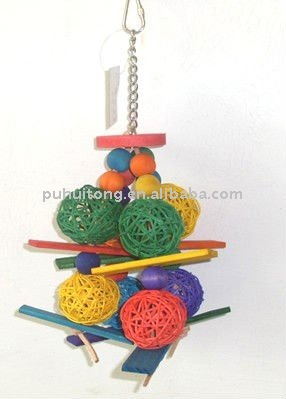 Wooden bird toy bird swing