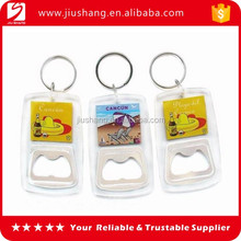 Customized acrylic bottle opener key chain with high quality