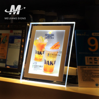 LED Edge-lit super thin LED Picture Frame for Window Display