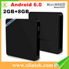 Original quad core Mini M8SII 4k tt tv box market play store download transmitter receivers Mini M8SII