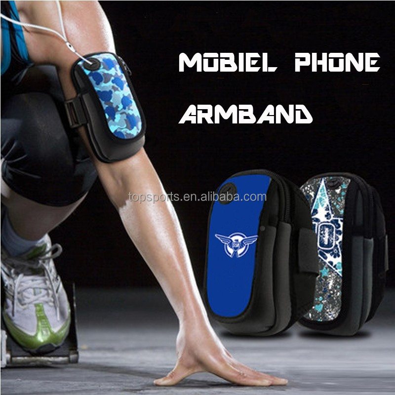wholesale cell mobile phone accessories neoprene armband factory in china