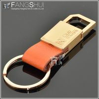 2014 hot sale custom leather keychain/new gadgets 2014 promotional pu leather keychain