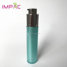 50ml fancy green cosmetic plastic airless lotion bottle with twist pump