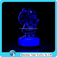 3D Illusion Night Light Santa Claus Home Decor Lamp for Chirstmas