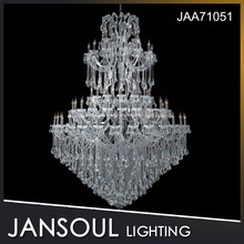 JANSOUL 84 lights grand large hotel handmade clear glass chandelier for lustre decoration