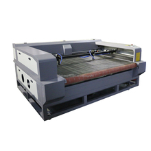 Large format double head auto feeding co2 clothing leather fabric roll laser cutter machine
